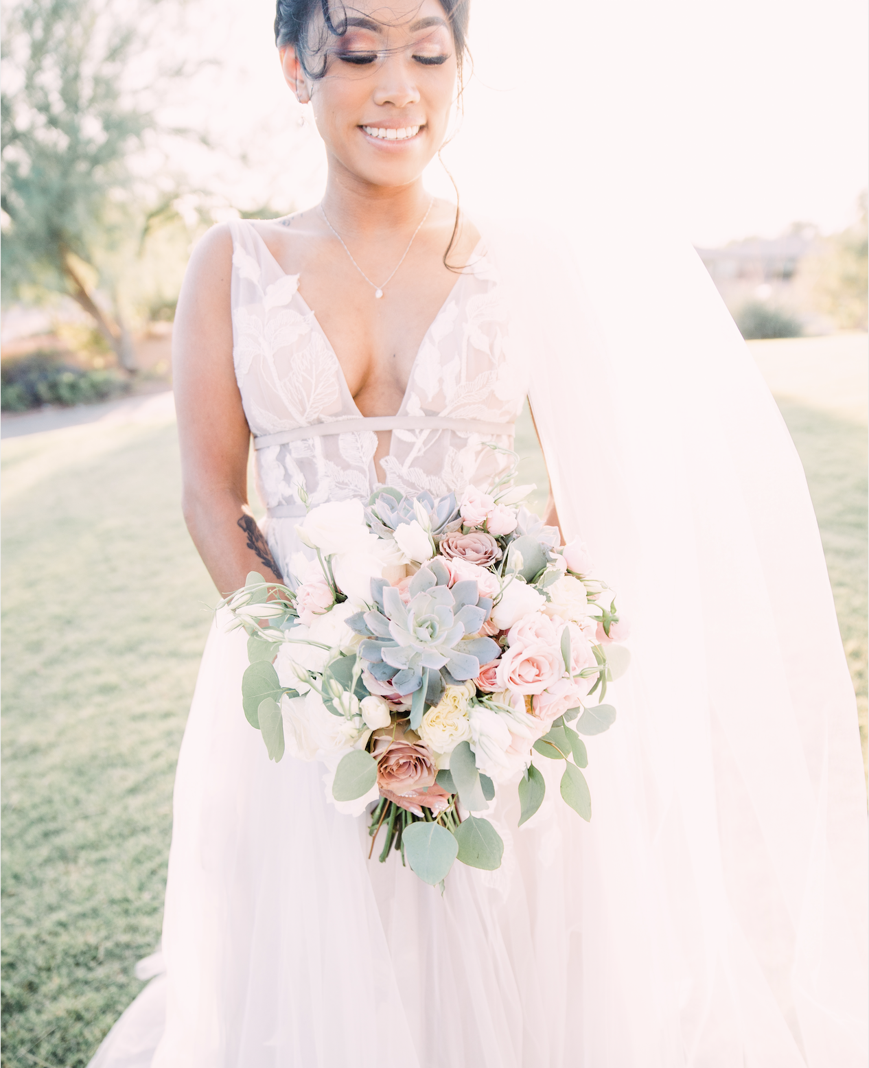Succulent Wedding Bouquet Las Vegas