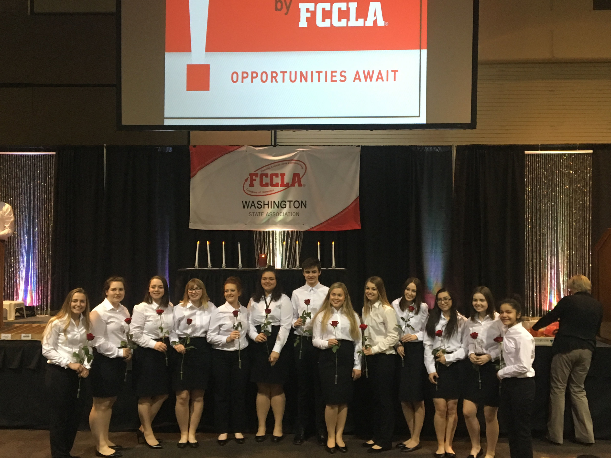 Liberty High Student, Nicole Winters, is installed as new Washington State FCCLA Vice President of Region 4