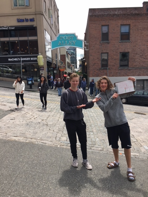 Students in the Culinary Arts class participated in a scavenger hunt at Pike's Place Market.