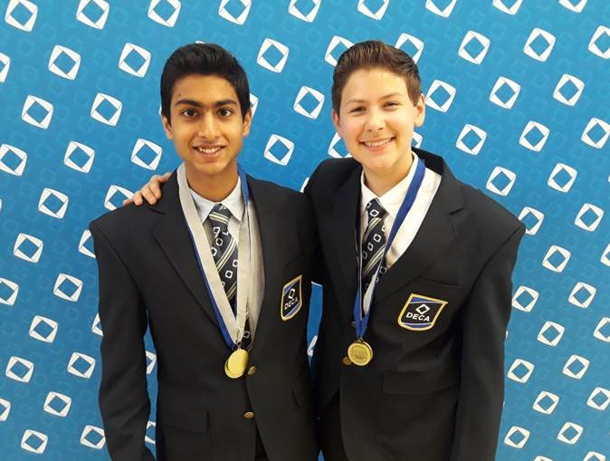 Ishaan and Xander after being named Finalists!