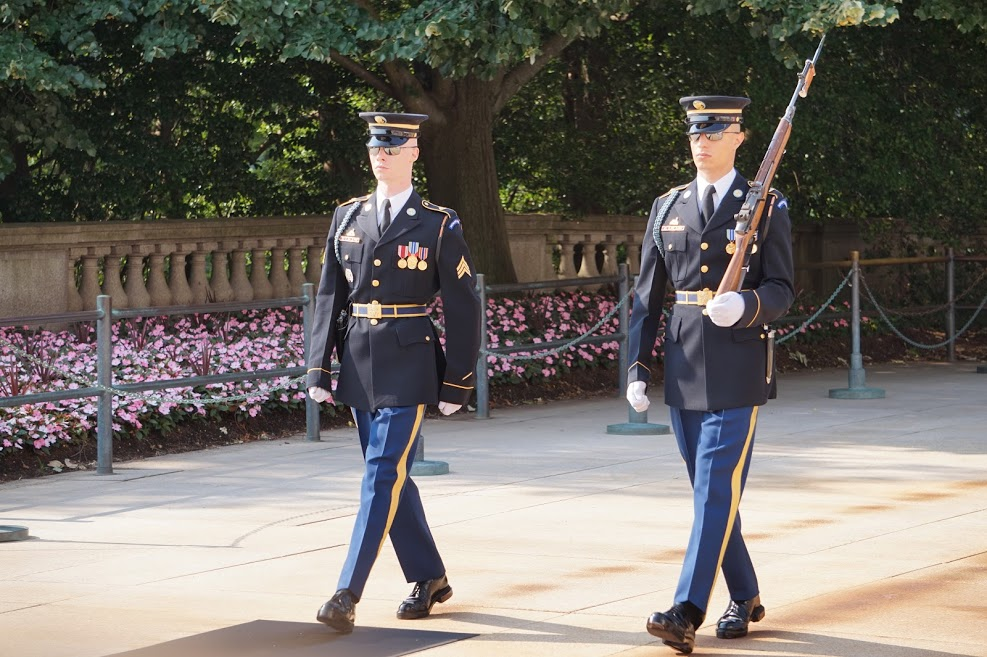 Early Sunday morning we went to Arlington National Cemetery and witnessed the Changing of the Guard at the Tomb of the Unknown Soldier.