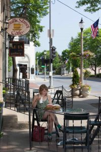 Downtown Bennington's historic streets, cafe and artsy vibe beg you to sit back and relax. Photo by Greg Nesbit