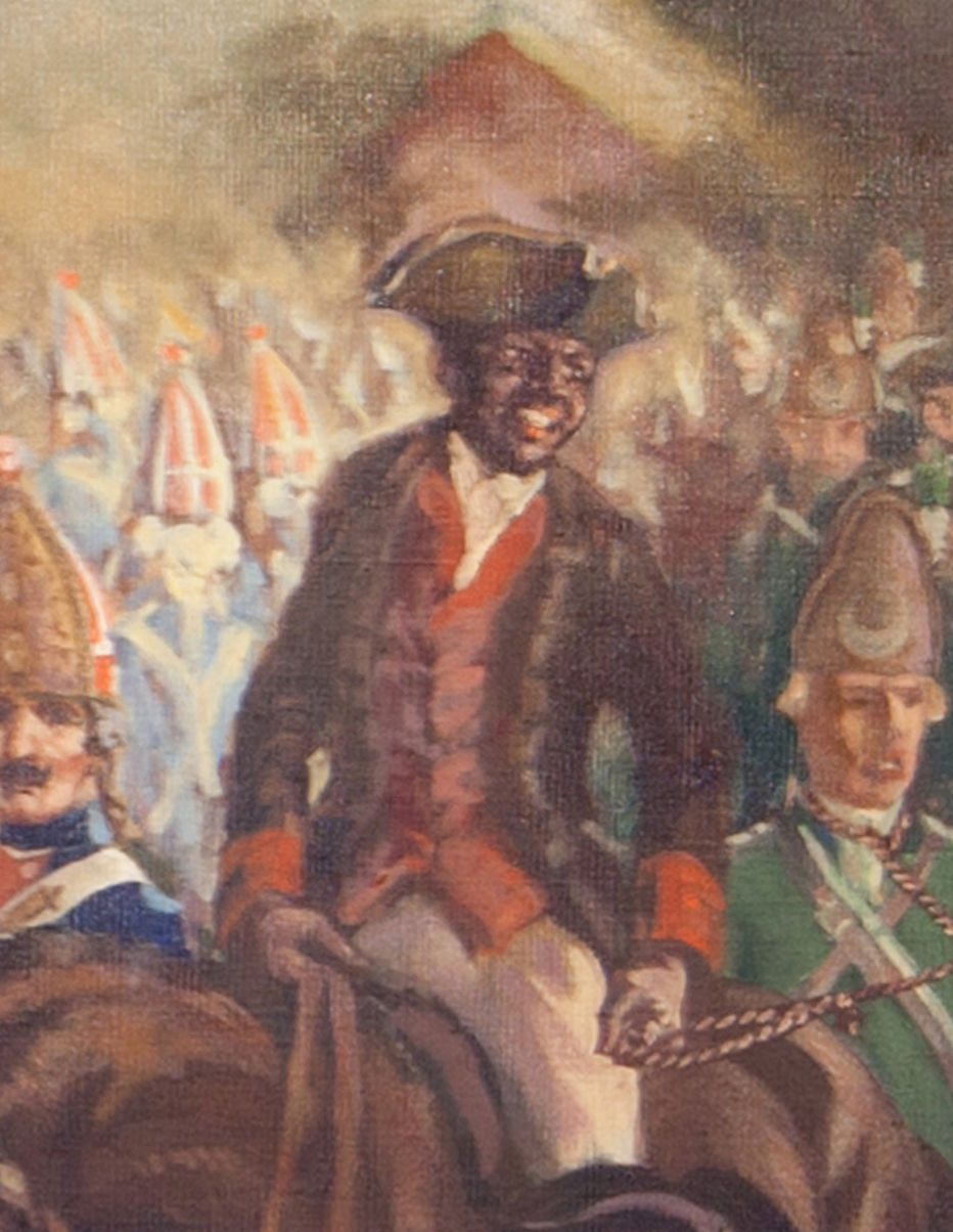 Leroy Williams -  Prisoners Taken at the Battle of Bennington  (detail) August 16, 1777 Oil on canvas, 72 x 144 inches Painted for the Museum in conjunction with the WPA Collection of Bennington Museum