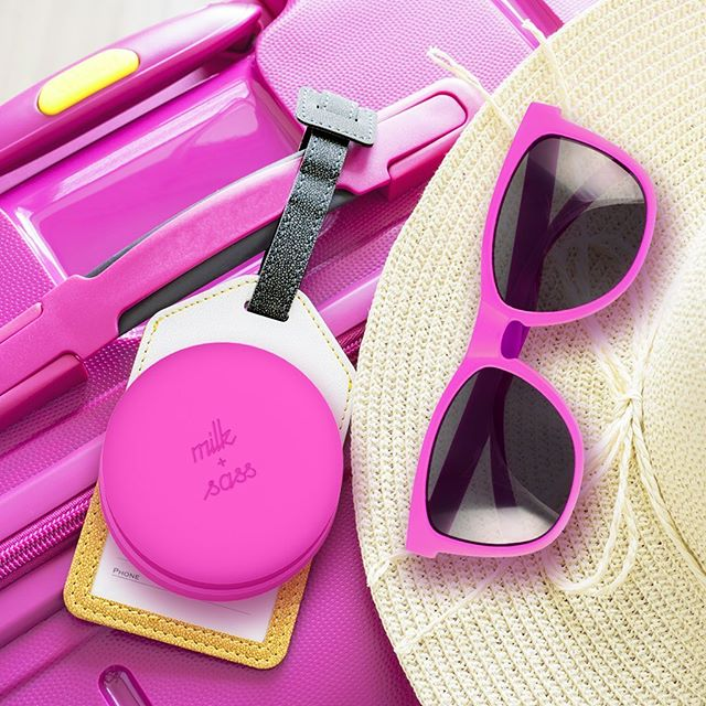 Landing in style - Travel Essentials... 🕶💫 Our cute and all-in-one inclusive hairbrush is the perfect must have accessory for all your travel needs. Shop link in bio. #travelinstyle #travelaccessories #allpink #travelessentials