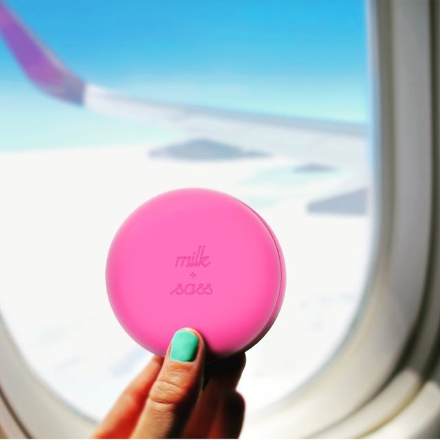 The must-have travel accessory... Use anytime, anywhere! ✈️✨ Shop link in bio. #travelmusthave #multifunctional #allpink #milkandsass #cute