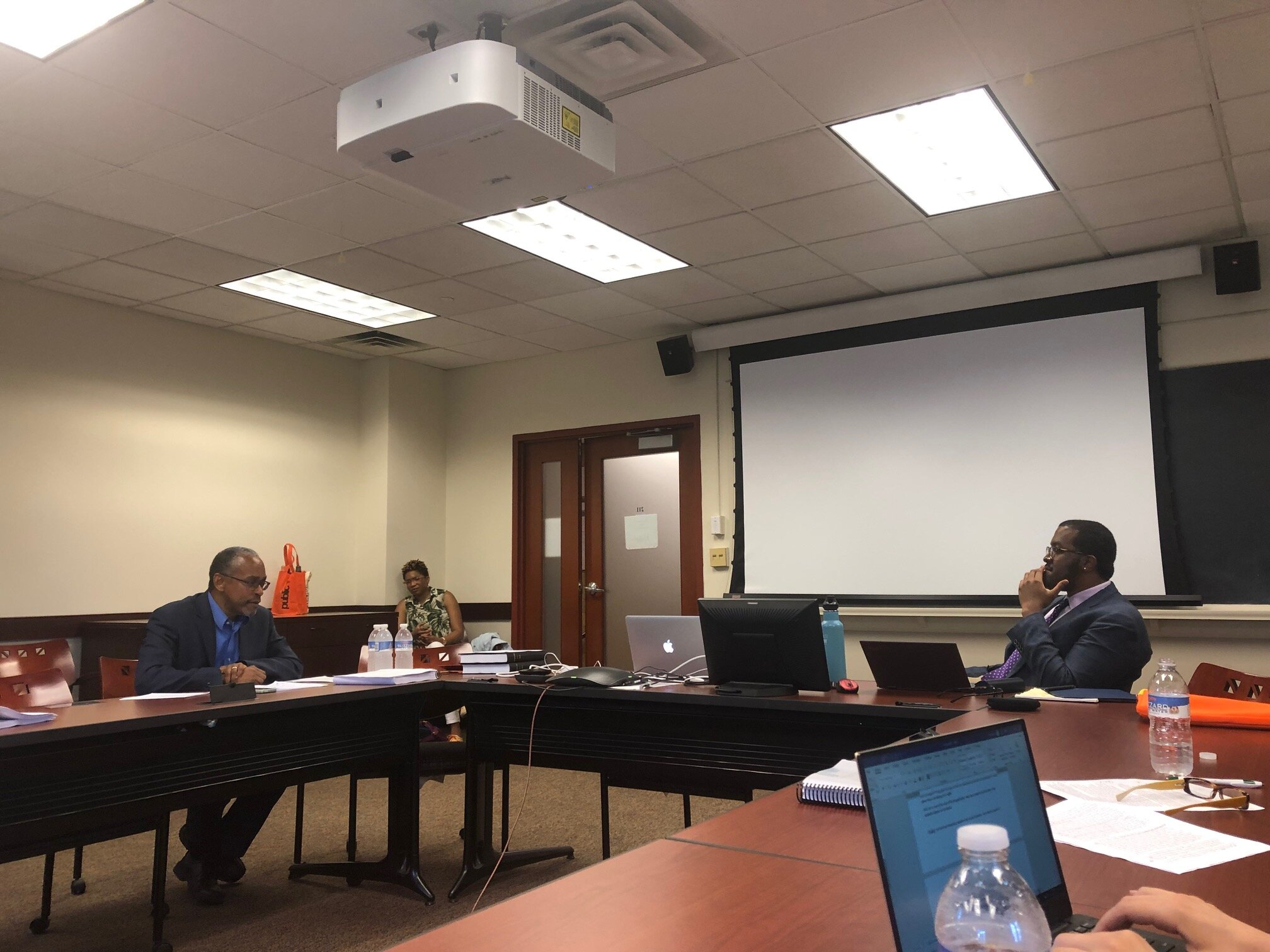 Ezelle Sanford III and Dissertation Adviser Keith Wailoo in Conversation  Sanford Dissertation Defense, June 2019, Princeton University