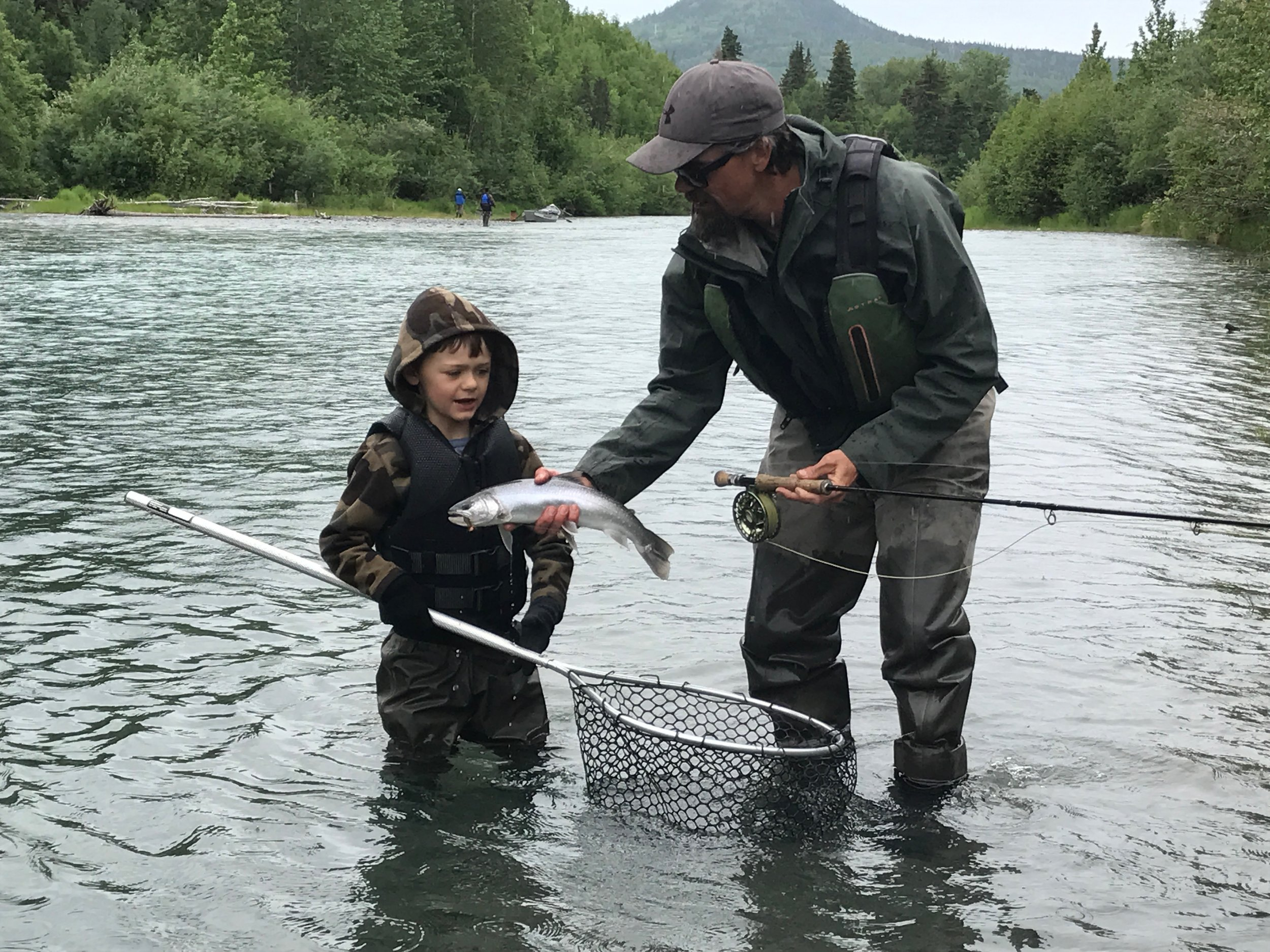 Father and son guide training!