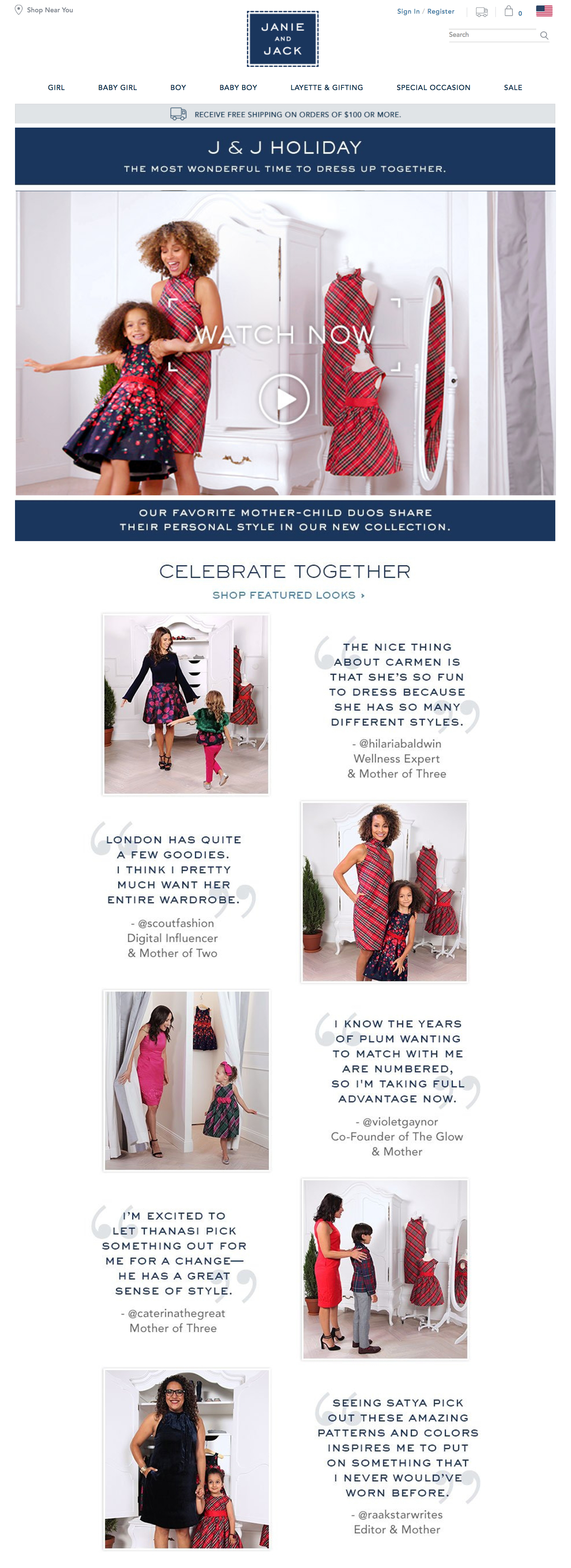 video campaign - Janie and Jack Holiday 2017