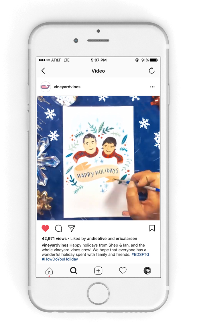 social content - Holiday Card Campaign for vineyard vines