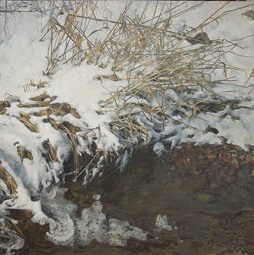 Winter (Creek), oil on canvas, 32 1/4 x 32 1/4, $4,200