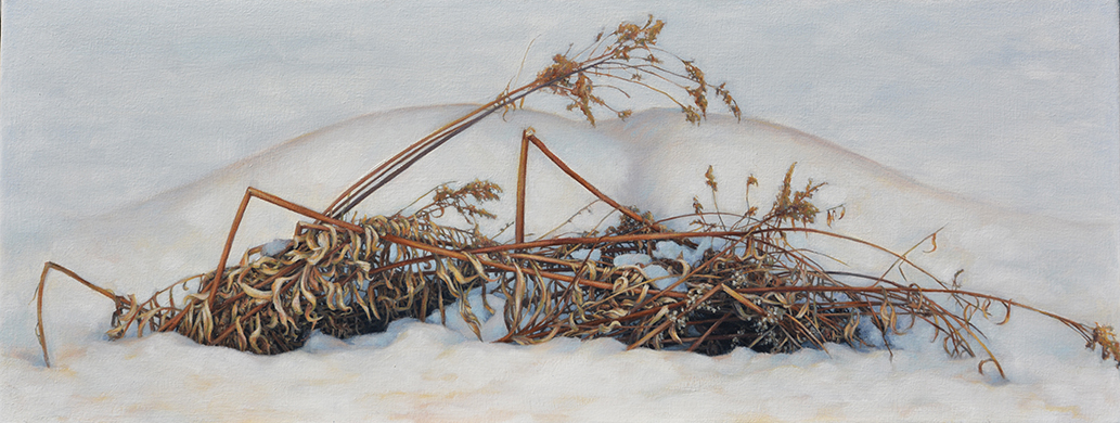Winter (Solace), oil on canvas, 16 x 42, SOLD