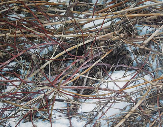 Winter (Brush), oil on canvas, 14 x 18, $1,900
