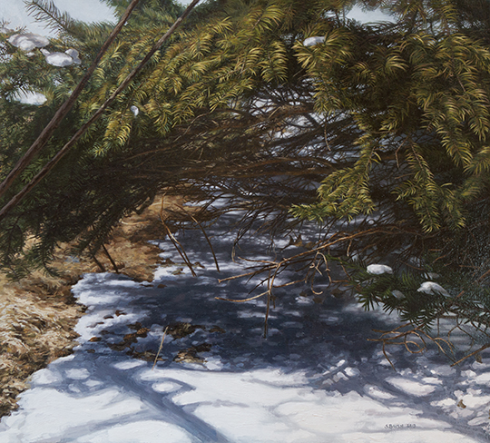 Winter(Boughs 2), oil on canvas, 27 x 29 3/4, SOLD