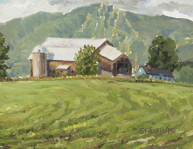 Bragg Hill, oil on canvas board, 8 x 10, $400 framed