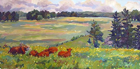 Lazy Morning, oil on canvas, 10 x 20, SOLD