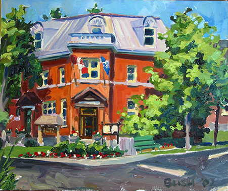 Lac Brome Town Hall, oil on canvas, 10 x 12