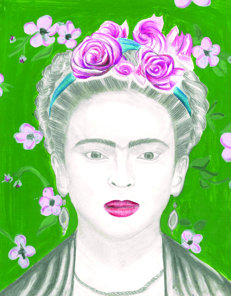 Frida, by Western International student Lucy Arias, which will be the cover of this year's publication