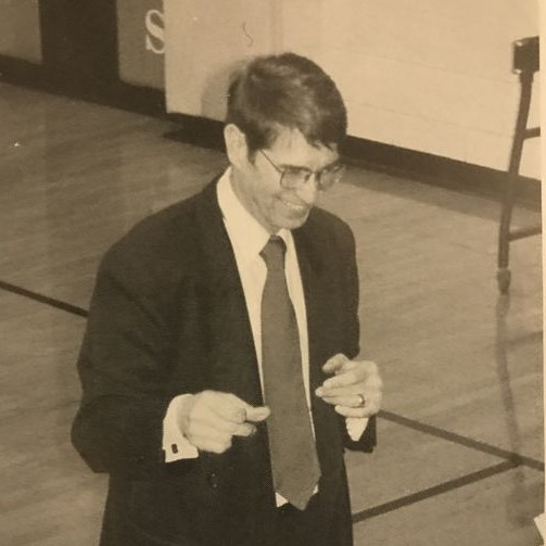 The man himself. Photo taken from my high school yearbook.
