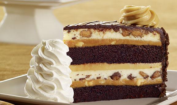 Reeses Peanut Butter Chocolate Cake Cheesecake. Hero.