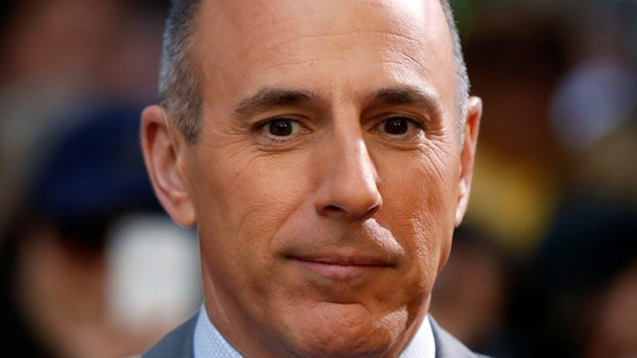 Matt Lauer, former person of arguable importance. Also, a shit.
