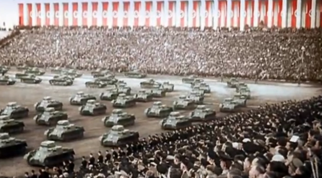 Trump's inspiration for the military parade. He said it was what he saw in Paris but we know better.