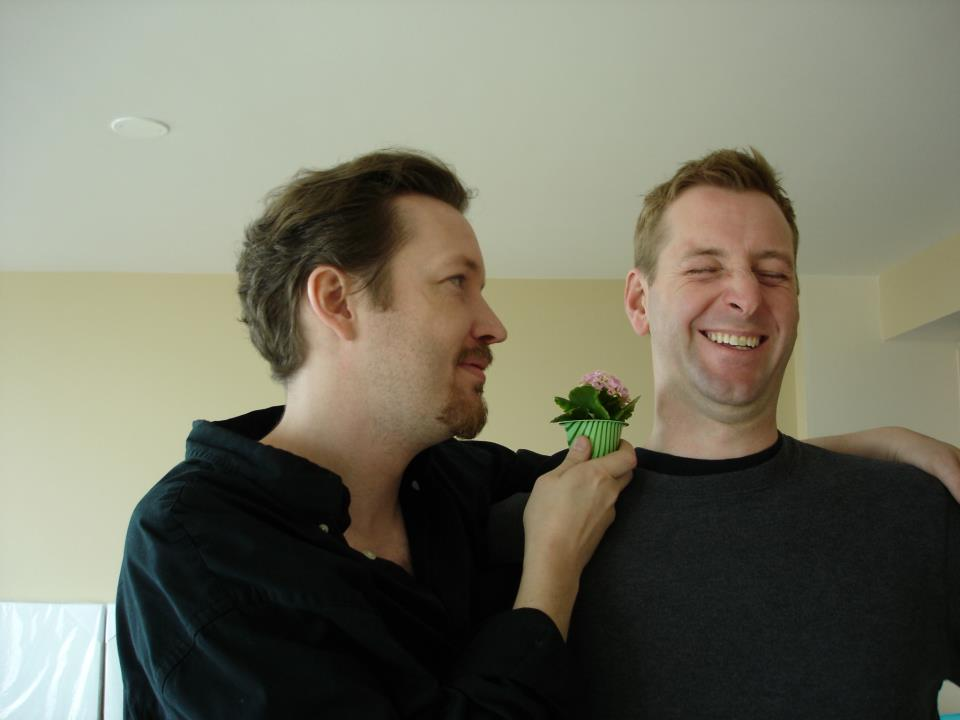 Pictured: Author giving bestie a fancy cupcake. D'aww.