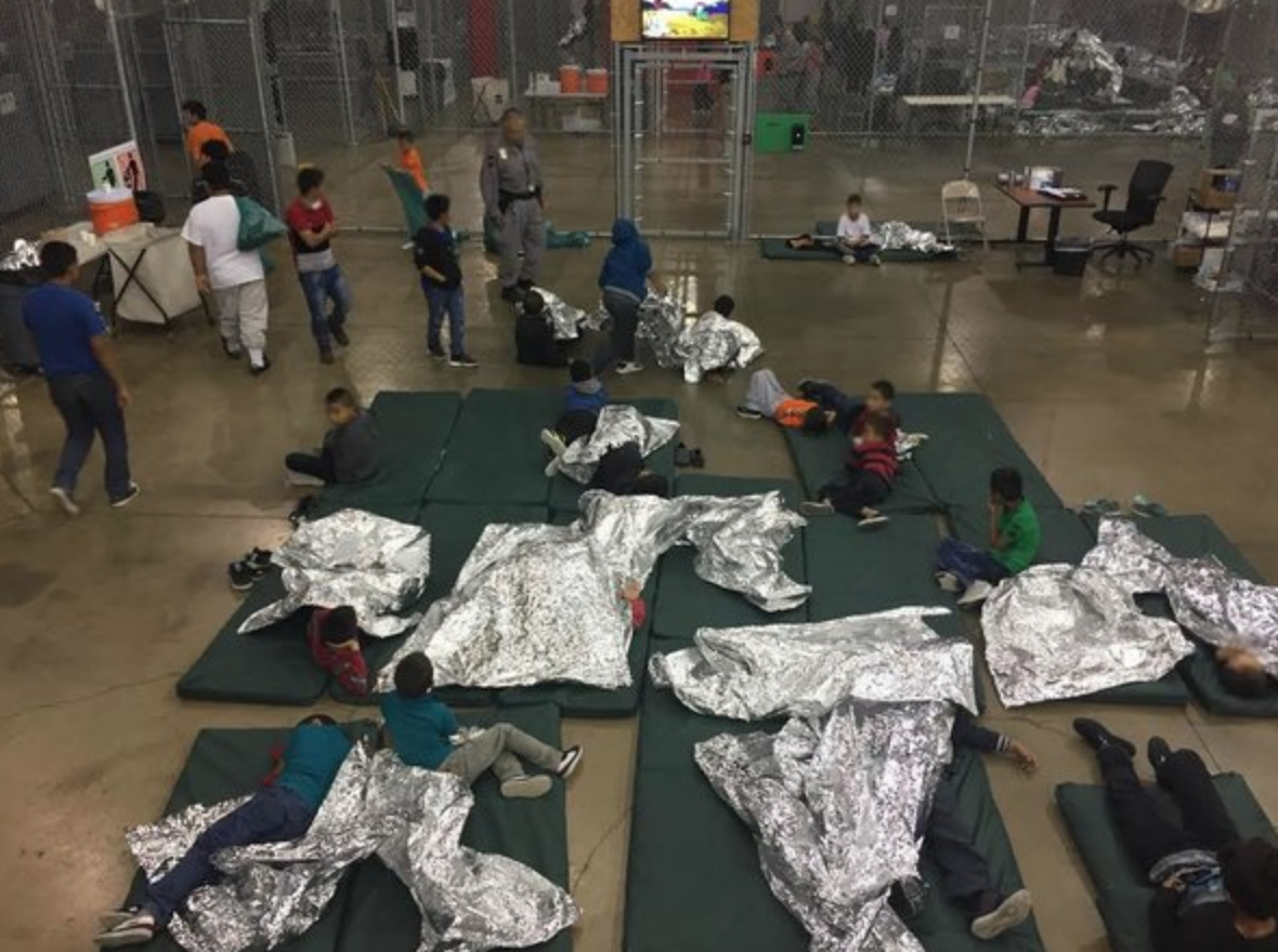 America the Beautiful can't even give children cots and sheets to sleep on. Death Row inmates get better accommodations.