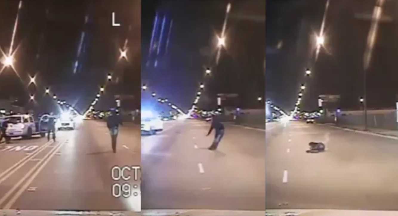 Stills from the shooting of Laquan McDonald.