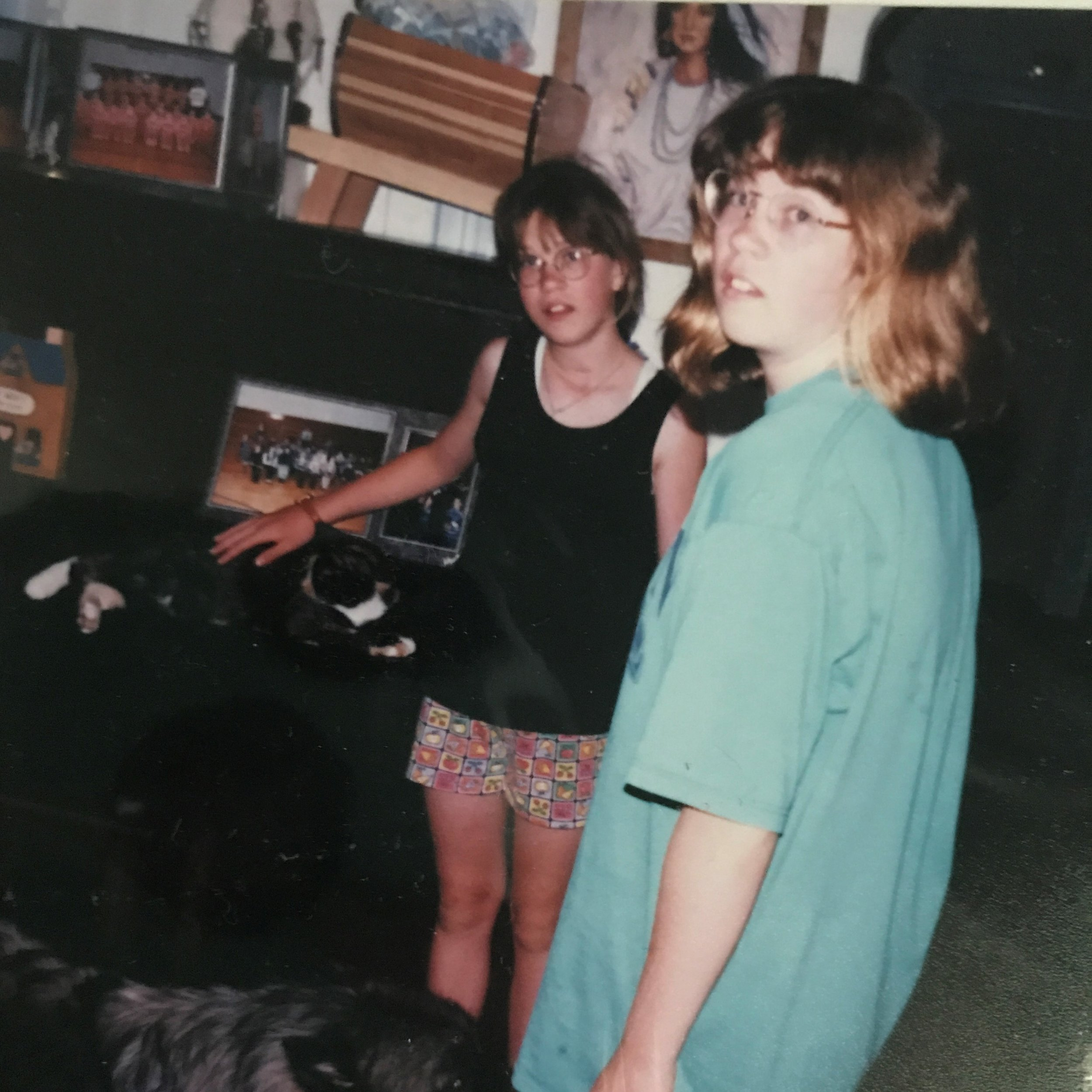 Crystal and Michelle. Photo taken sometime around 1998-1999.