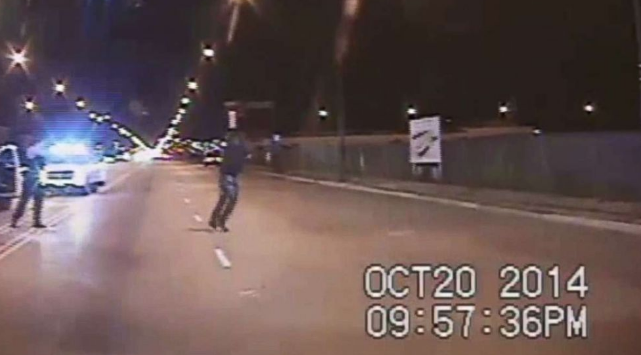 Chicago Police Officer Justin Van Dyke shooting Laquan McDonald to death.