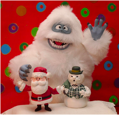 The Bumble makes sure the elves leave the premises and that the creepy snowman keeps his distance.