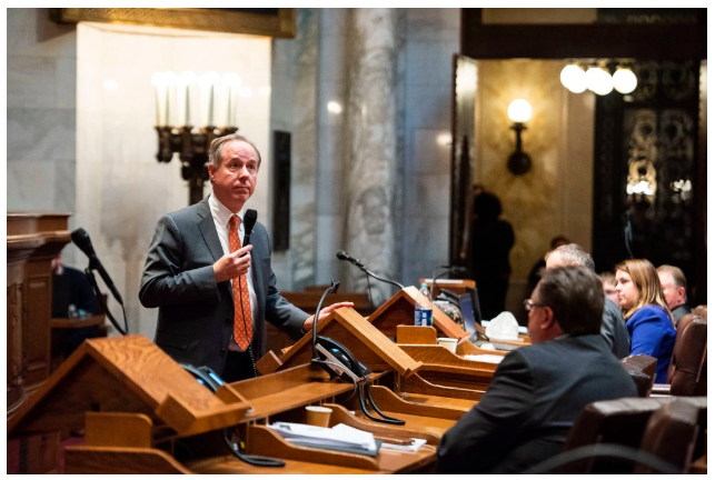 Robin Vos, Republican speaker of the Assembly and Tim Conway impersonator.