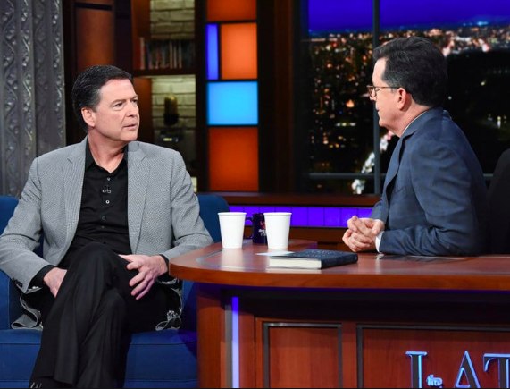 Damming proof that Comey is a secret democrat, he once had a pleasant conversation with Stephen Colbert.