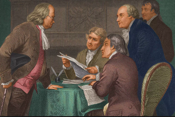Ben Franklin, the inventor of Off-White Out.