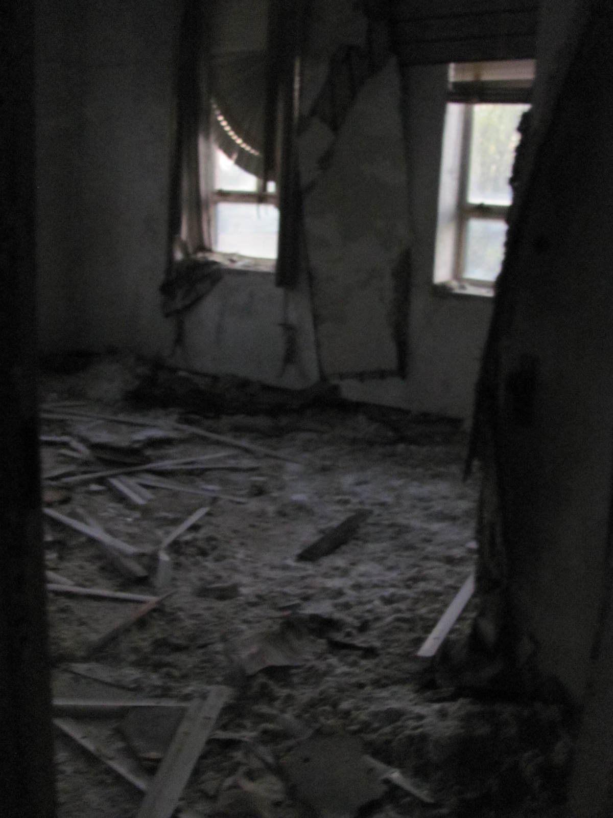 Inside the school, demolished in 2017