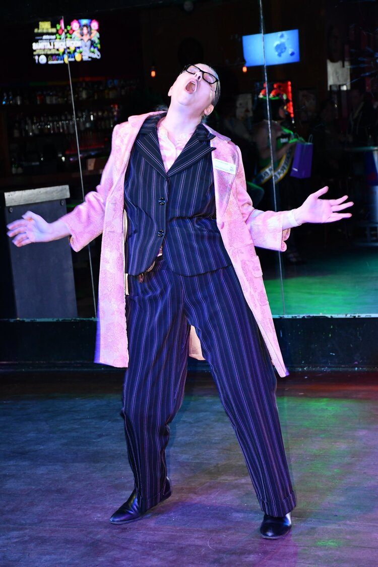 """Hipster Ken performing Cab Calloway's """"Minnie the Moocher."""""""