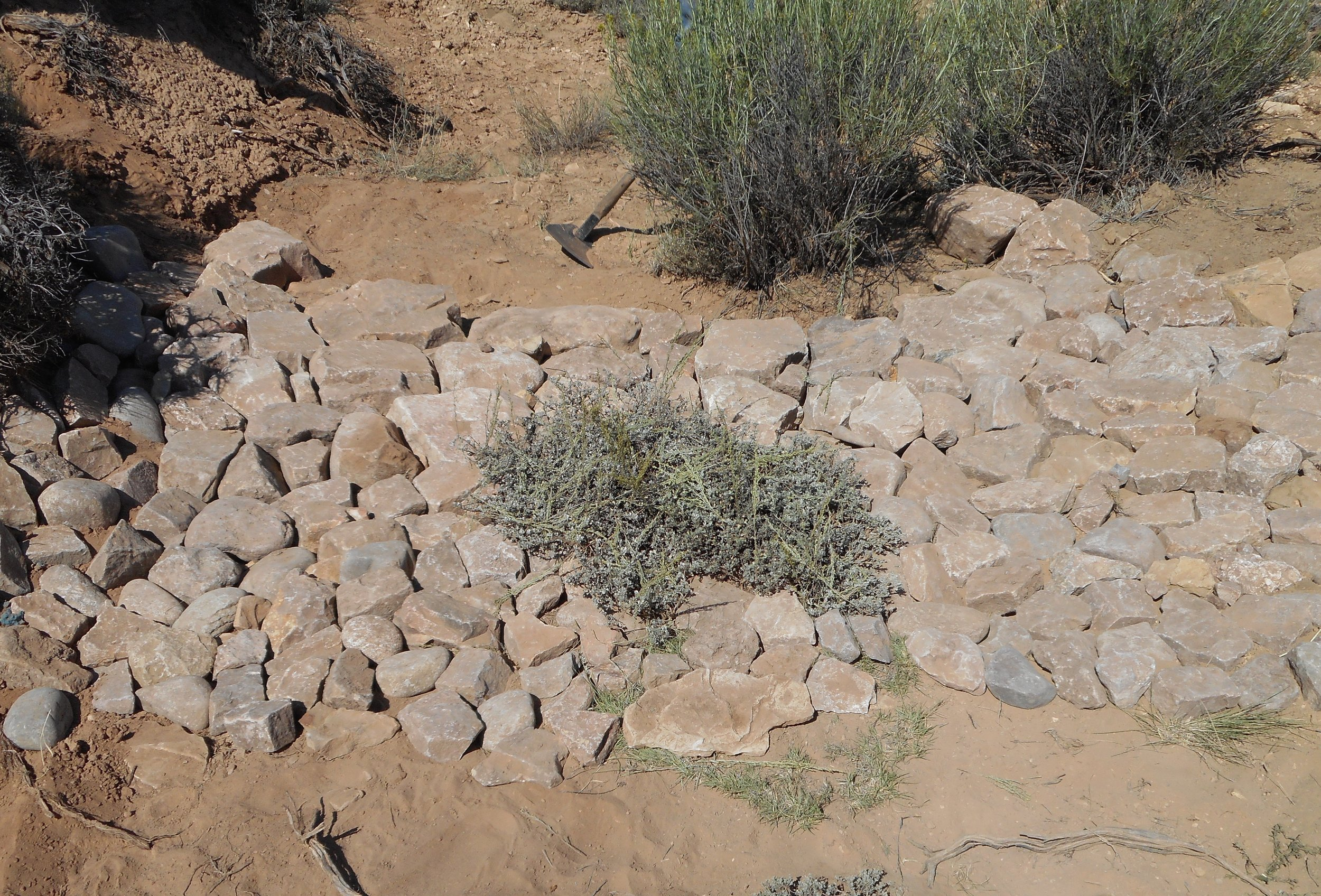 Click  here  to see a video of how to build a one rock dam to control erosion.