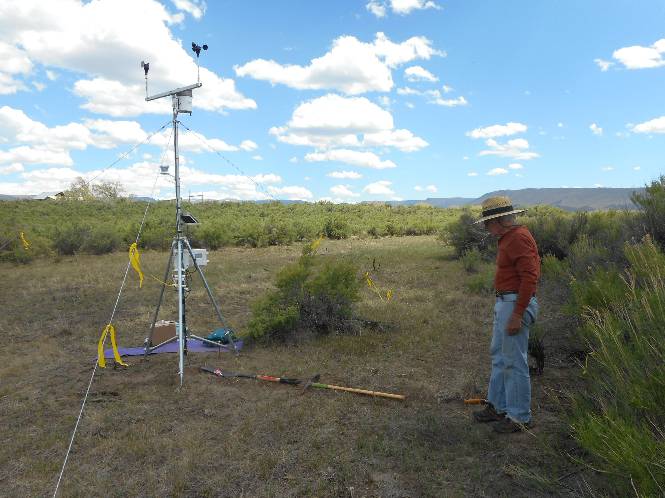 Bob Grossman helped the San Miguel Basin Gunnison Sage-grouse Working Group set up a new weather station in Dry Creek Basin, south of Naturita, Colorado.