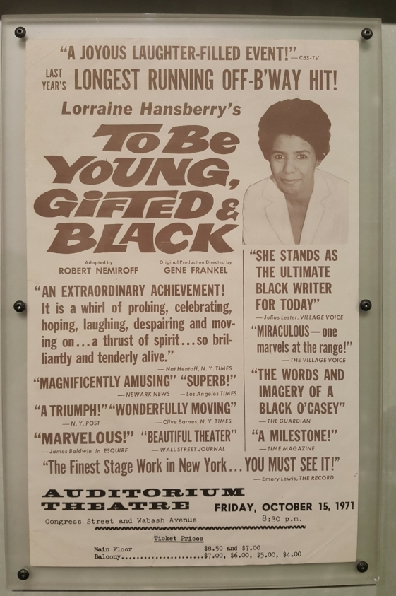 The title to the left was a posthumous piece, created by Hansberry's ex-husband Robert Nemiroff, comprised of her personal letters, diary entries, and unfinished works.  To Be Young, Gifted and Black  became the longest running off broadway show of the season in 1968.