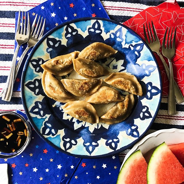 Happa 4th of July everyone!  Enjoy the time with friends and family! ❤️💙❤️💙❤️ #happakitchen #dumplings #july4th #entertainingathome
