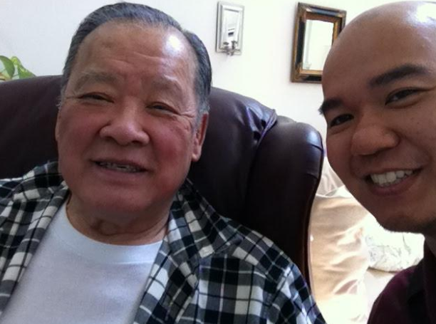 Dr. Wong and me at his Illinois home in 2013