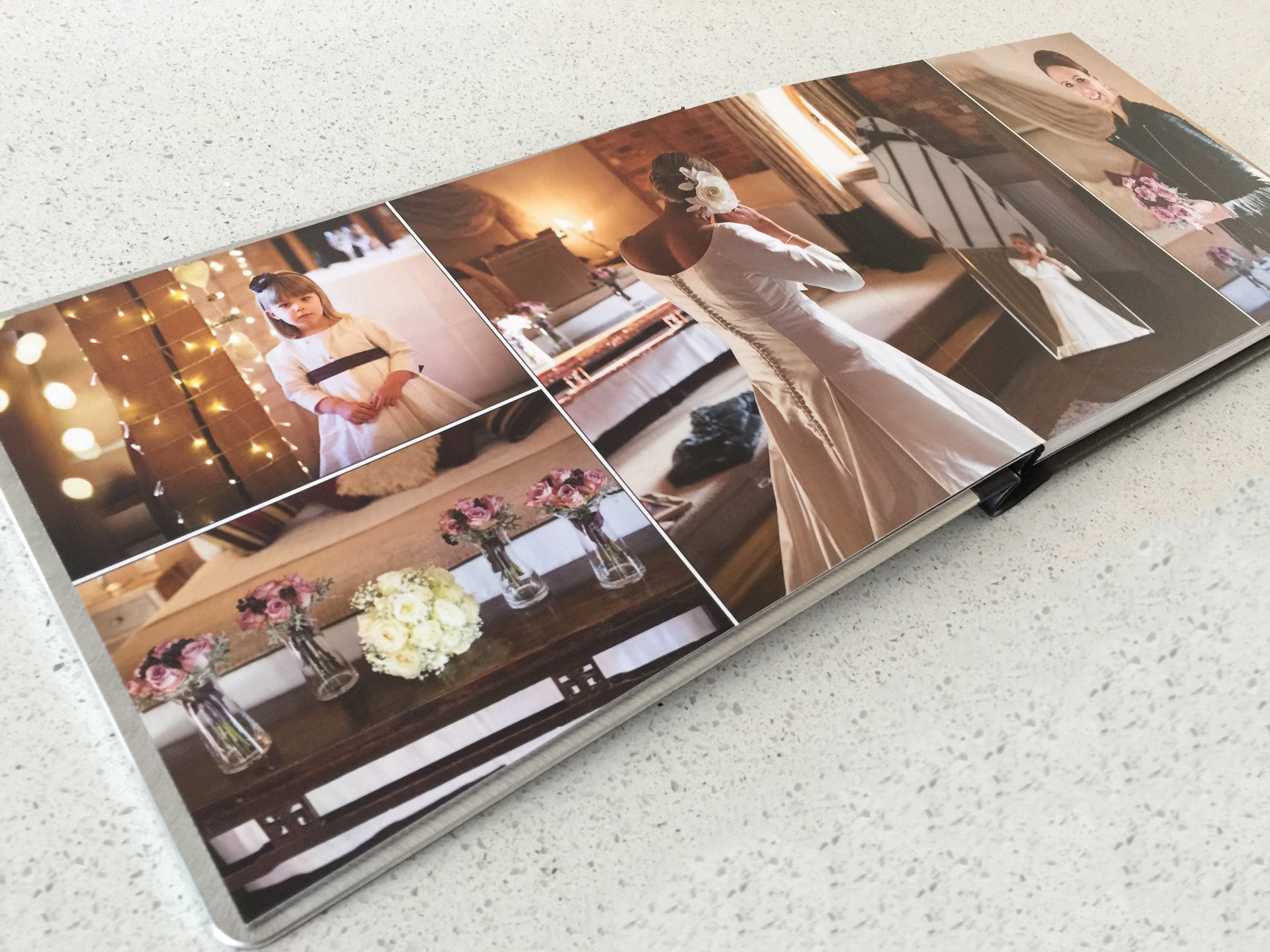Your chosen images can flow seamlessly across the page in a natural spread style