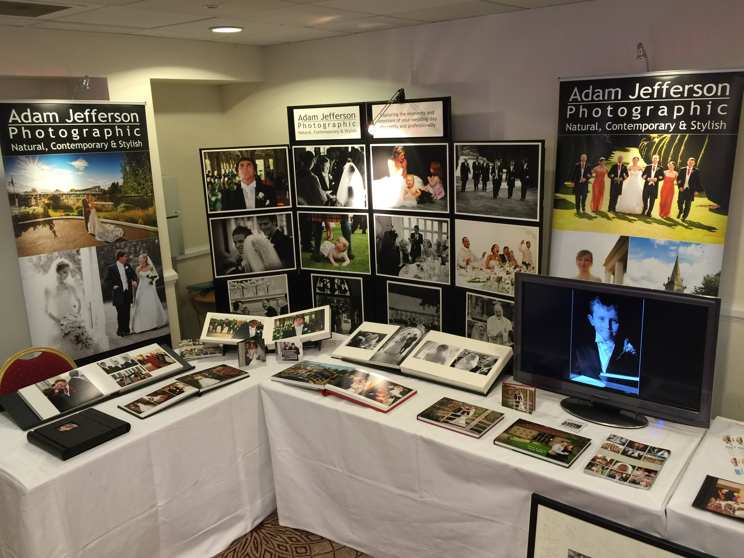 Our display at the wedding fair today