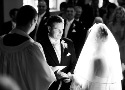 Bride and Groom making their vows