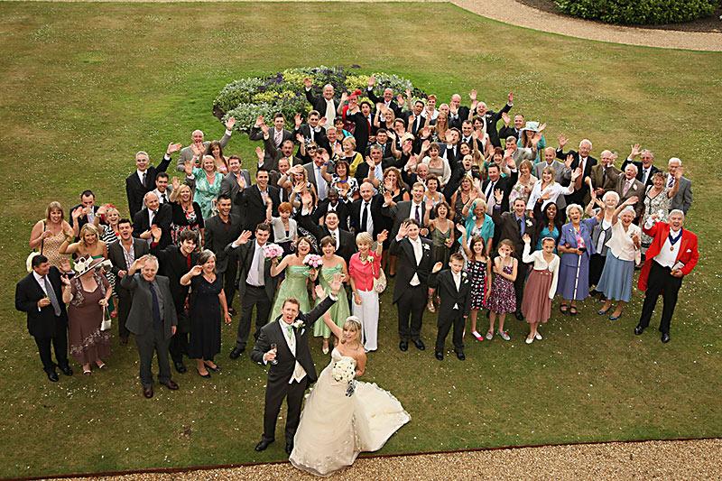 Everyone wedding group photo