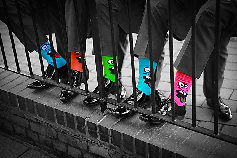 Groomens' coloured socks