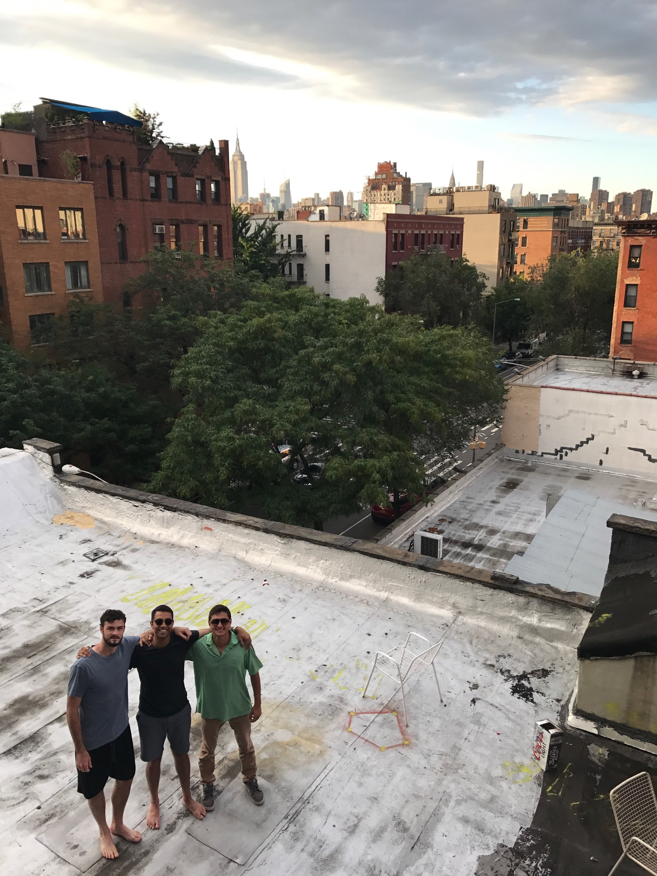 Our avenue C apartment had a fire escape accessible rooftop.