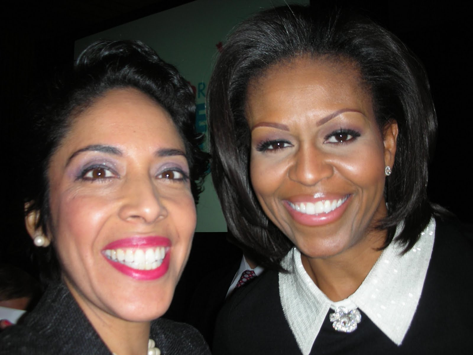 First Lady Michelle Obama with Anna Maria Chávez