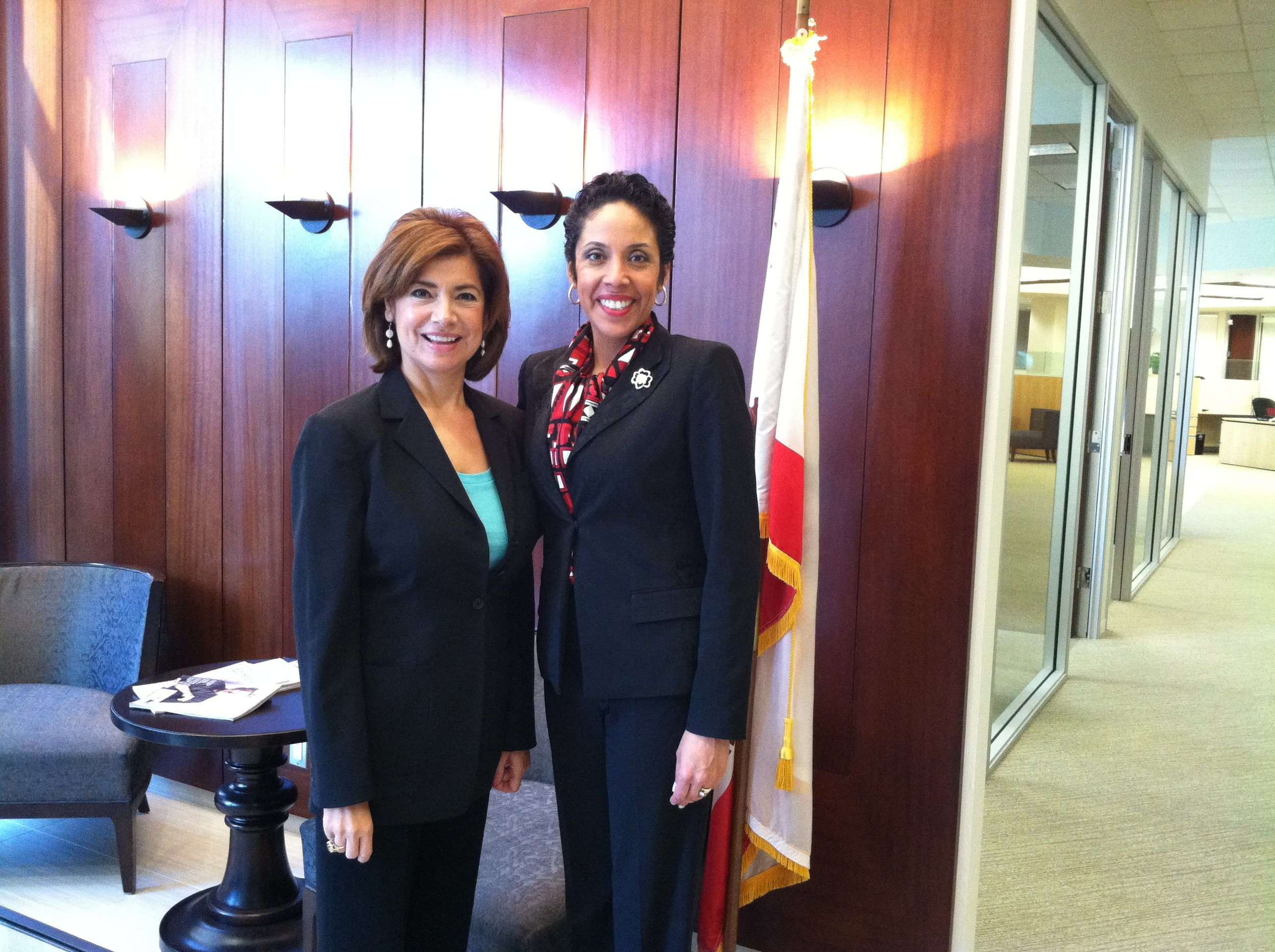Administrator of the U.S. Small Business Administration Maria Contreras-Sweet with Anna Maria Chávez