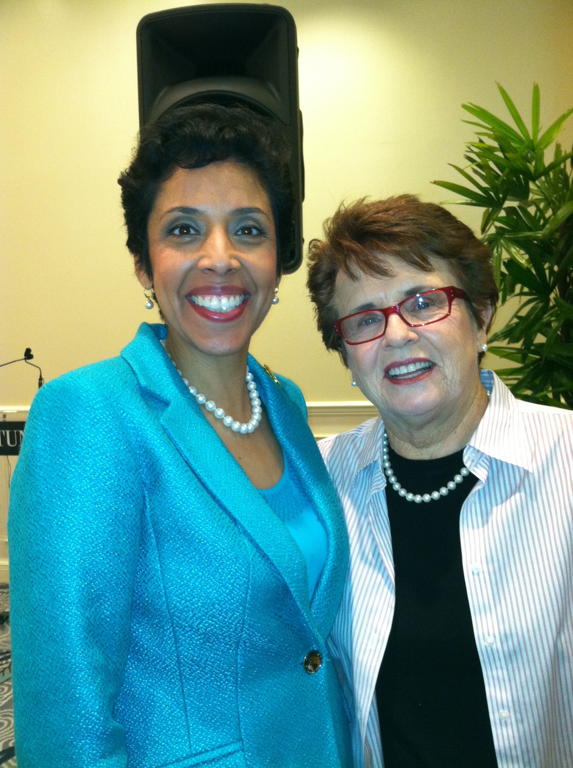 Tennis Player Billie Jean King with Anna Maria Chávez